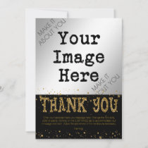 Black & Gold Glitter THANK YOU