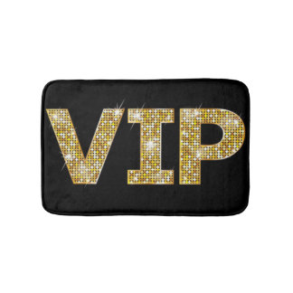 Black & Gold Glitter VIP Bathroom Mat