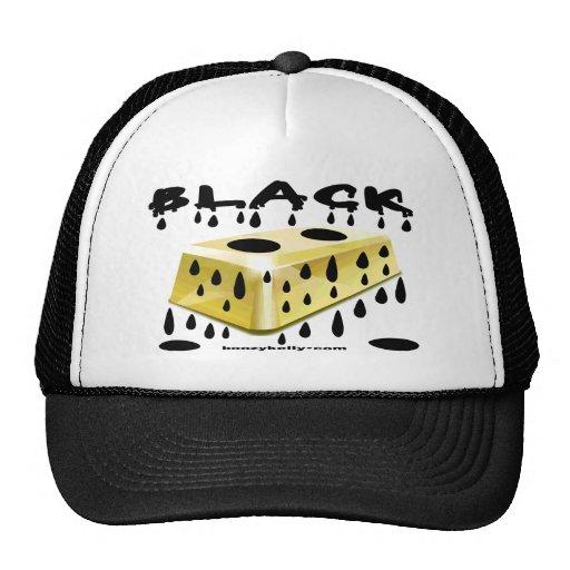 Black,Gold,Gold Bar,Oil Field Hat,Oil