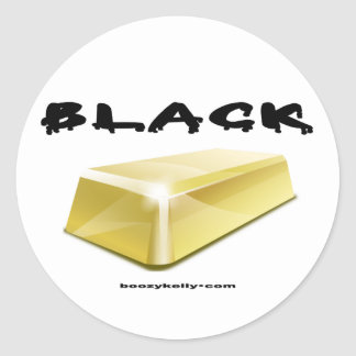 Black,Gold,Gold Bar,Oil Field,Oil,Sticker Classic Round Sticker