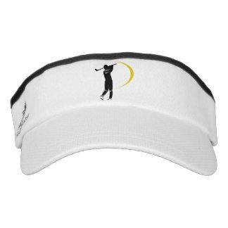 Black Gold Golf Swirl Visor