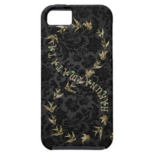 Black Amp Gold Hakuna Matata Infinity Symbol Iphone 5 Cases