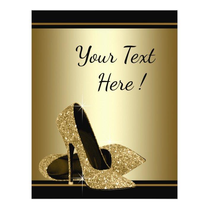 Black Gold High Heel Shoe Flyer