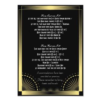 Black & Gold Information/Direction Card
