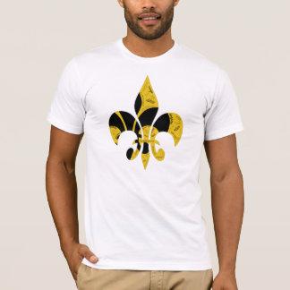 Black Gold Inspirational Fleur de Lis T-Shirt