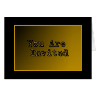 Black Gold Invitation