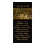 Black & Gold invitation Rack Card