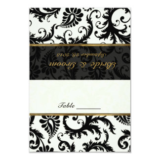 Black, Gold, Ivory Placecard Card