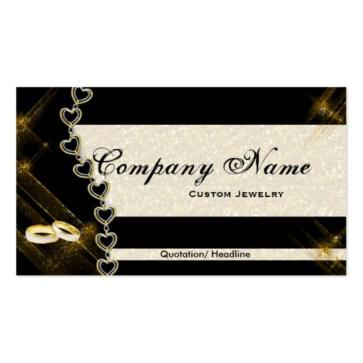 Black & Gold Jewelry Business Cards