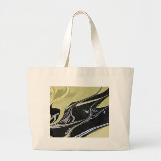 Black Gold Large Tote Bag
