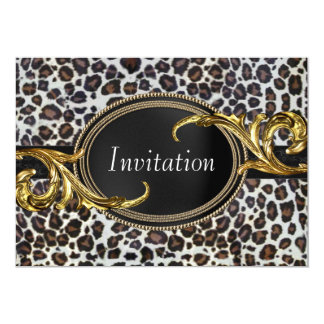 Black Gold Leopard All Occasion Party Card
