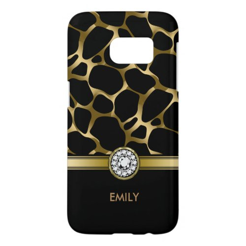 Black & Gold Leopard Print Pattern Phone Case