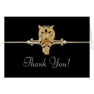 Black Gold Leopard Thank You Cards Note Card