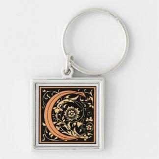 Black & Gold Letter 'C' - Keychain