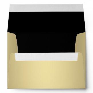 Black Gold Linen Envelopes