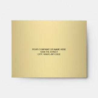 Black Gold Linen RSVP Envelopes