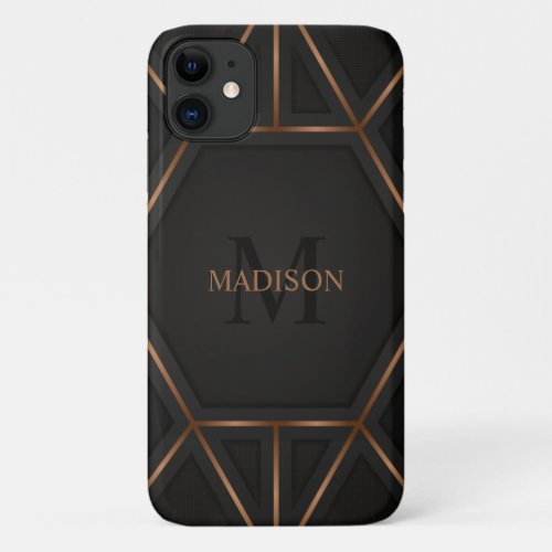 Black Gold Luxury Modern Minimal Abstract Phone Case