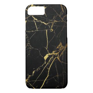 Black & Gold Marble iPhone 8/7 Case