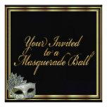 Black Gold Masquerade Ball Invitation Collection