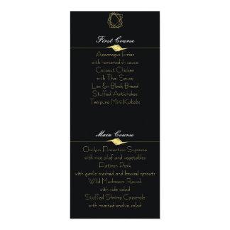 Black & Gold Menu Card