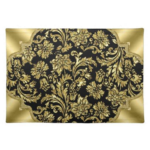 Black amp Gold Metallic Floral Damasks Cloth Placemat Zazzle : blackgoldmetallicfloraldamasksclothplacemat r44a63e63519545fc9707c2495904e8262cfku8byvr512 from www.zazzle.com size 512 x 512 jpeg 88kB