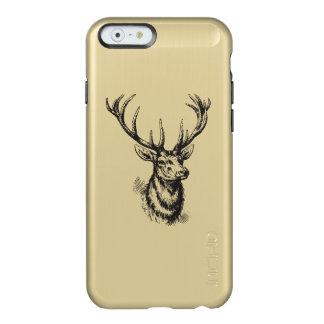Black Gold Metallic Vintage Deer Antlers Design Incipio Feather® Shine iPhone 6 Case
