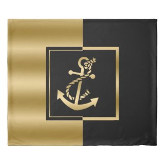 Black & Gold Modern Design Nautical Boat Anchor