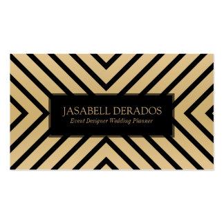 Black & Gold Modern Geometric Design Business Card