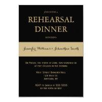 Black & gold modern rehearsal dinner invitations