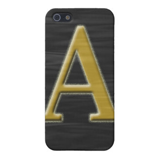 "Black gold monogram ""A"" Speck Case Case For iPhone 5"