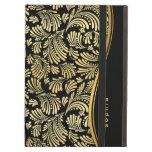Black Gold Monogram iPad Folio iPad Covers