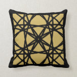 Black Gold Motif Graphic Design IV Throw Pillow
