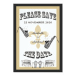Black Gold New Orleans Jazz Save the Date 5x7 Paper Invitation Card