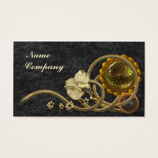 Black & Gold Nostalgia Business Card