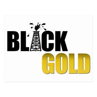Black Gold Oil Post Card