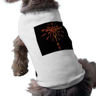 Black Gold Orange Starburst Dramatic Design Pet T-shirt