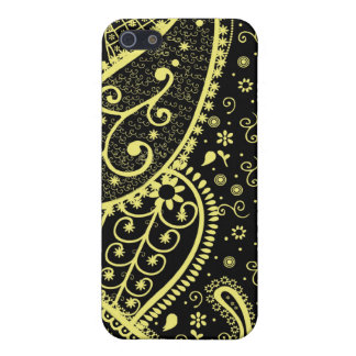 Black & Gold Paisley Speck iphone Case