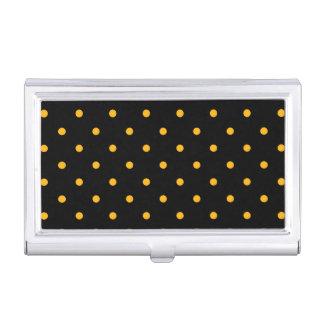 Black & Gold Polka Dots Business Card Case