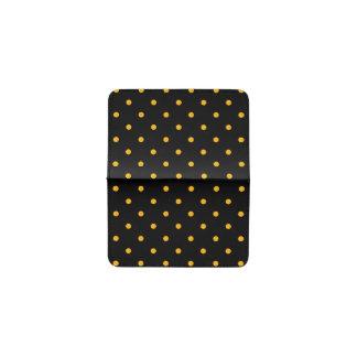Black & Gold Polka Dots Business Card Holder