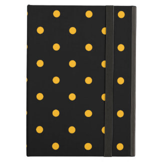 Black & Gold Polka Dots Case For iPad Air