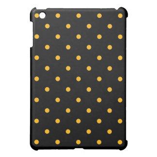 Black & Gold Polka Dots Case For The iPad Mini