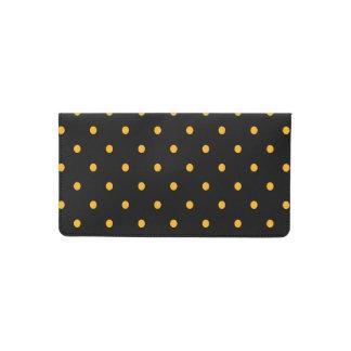 Black & Gold Polka Dots Checkbook Cover