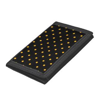 Black & Gold Polka Dots Trifold Wallet