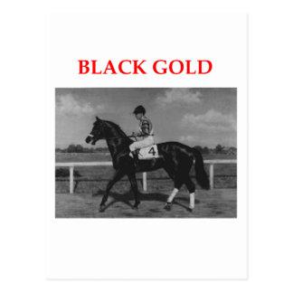 black gold postcard