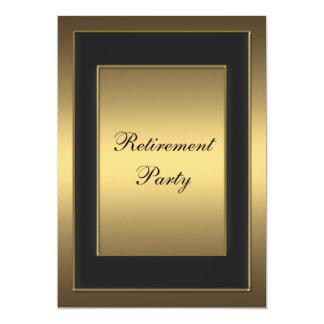 Black Gold Retirement Party Invite
