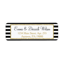 Black Gold Return Address Labels Elegant Shower