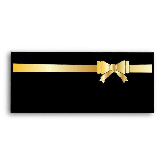 black gold ribbon blank gift envelopes zazzle com