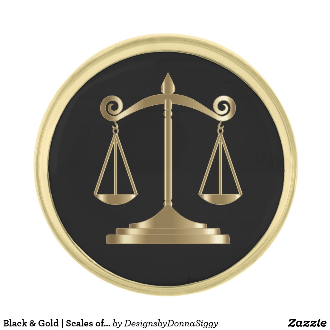 Lawyer Gold Finish Lapel Pin