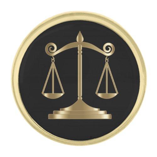 Lawyer Gold Finish Lapel Pin