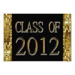 Black, Gold Sequins Class Of 2012 Grad Invitations